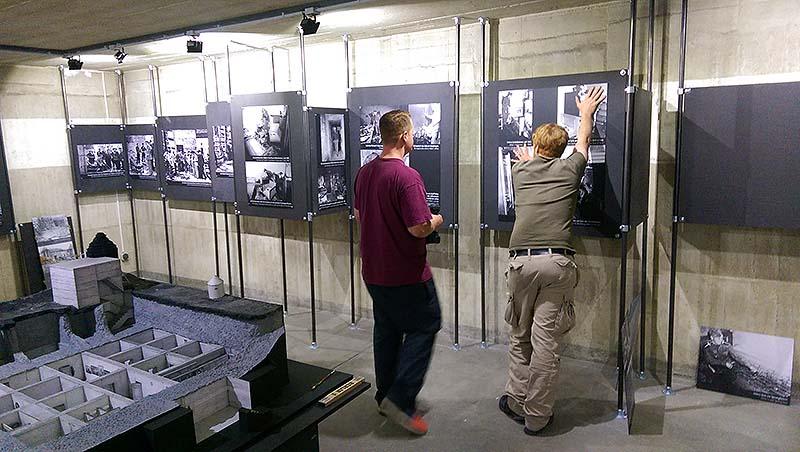 Bunkerausstellung, Aufbau, 20160805